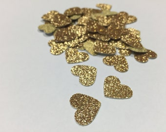 Gold Heart confetti, Bow confetti, Party Decorations , Kids Party, Wedding Decor, Baby Shower Decor