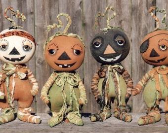 Primitive PATTERN Creepy Petey and the Rag Tag Pumpkin Gang