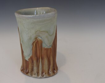 Wood Fired Carved tumbler 2