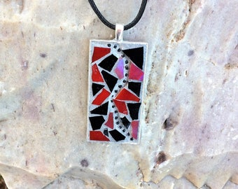 Mosaic Jewelry/Mosaic Pendant/Wearable Art/Gift for Her Under 30/Mosaic Gift
