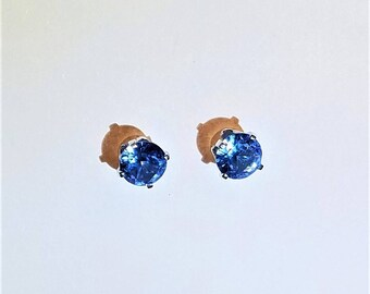 Earrings, aquamarine