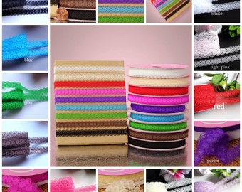 1/2 inch wide lace Trim Ribbon select color price for 5 yard