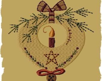 Prim Candle Ornament-Version 1-4x4--INSTANT DOWNLOAD