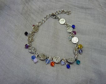 Magical medieval Celtic ethnic pagan charm bracelet with spiral snake