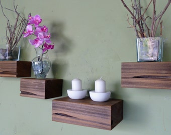 Custom Floating Wood Shelves - made to order