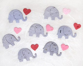 100 Plantable Confetti Elephants - Elephant Baby Shower Favors - Flower Seed Paper Elephant Confetti
