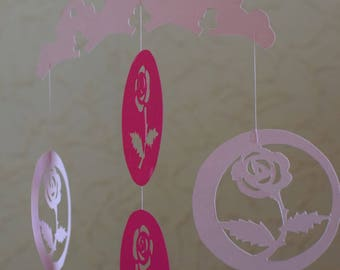Mobile kirigami: offer a bouquet of roses