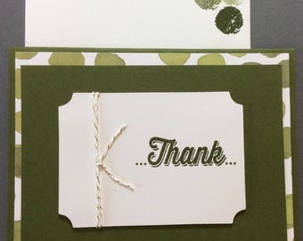Thank You, card, stampin up