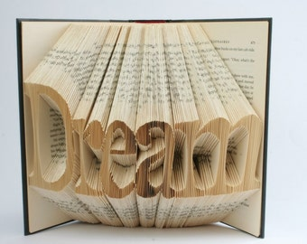 Custom Folded Book Art. Up to 6 characters. You tell me what you want!