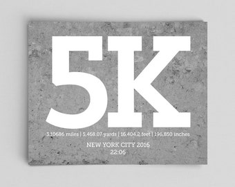 Custom Running Posters with Times 5k Running Print Running Gifts for Her Gifts for Him Runner Girl 5k Running 5k Runner Gifts for Runners