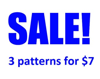 Dr Who Cross Stitch Pattern Sale: 3 patterns for 7 dollars