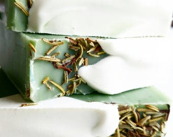 Rosemary Mint Soap, Clean Scented, Gardening Lover, Earthy Simple Soap, Cold Processed, Happiness in a Bar of Soap, Bath