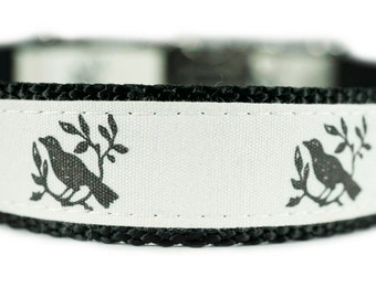 "Dog Collar Personalized Engraved Buckle 1"" Bird Dog Collar"