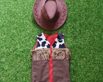 Cowboy Vest & Hat