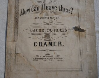 1840s   American Colonial sheet music