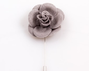 Gray Lapel Flower