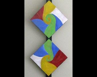 Abstract Art,Original Art for Sale, Metal Artwork, Abstract Copper Painting Modern Contemporary Karina Keri-Matuszak, Bright, Swirl
