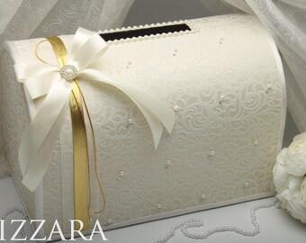 Wedding baskets boxes etsy wedding money box ivory wedding card box gift card holder wedding card box wedding accessories vintage solutioingenieria Images