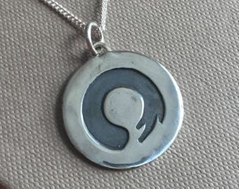 Silver Zen Circle Necklace