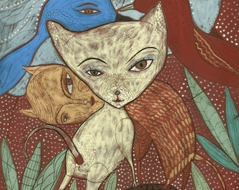 A Jenny Mendes Giclee - I Love My Friends