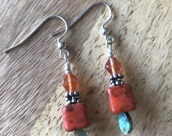 Vintage glass and turquoise