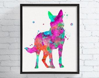 German Shepherd Art - German Shepherd Print - Watercolor German Shepherd - German Shepherd Wall Decor - Dog Lover Gift - Watercolor Dog Art
