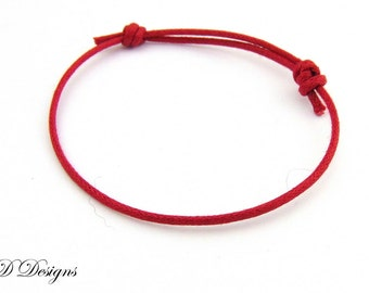 Red Cord Bracelet, Cord Bracelet, Cord Jewellery, Festival Bracelet, Adjustable Bracelet, Surfer Bracelet, Hippie Bracelet