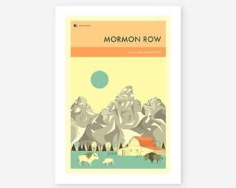 GRAND TETON National Park (Giclée Fine Art Print/Photo Print/Poster Print) 'Mormon Row' by Jazzberry Blue