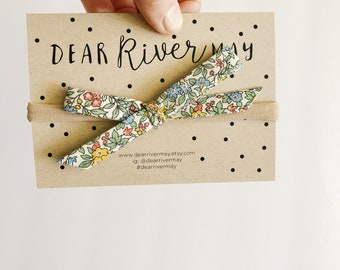 Hand tied bow [ hidden yellow ] floral