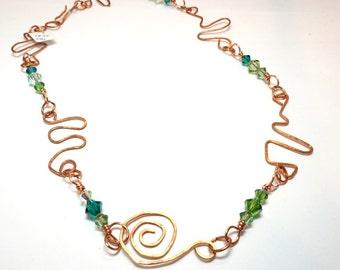 Celtic Copper Necklace