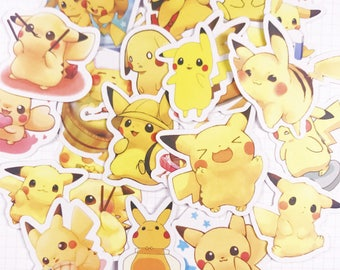 24 PCS, Pikachu sticker, Pokemon sticker, Raichu sticker, Pokemon GO, Nintendo, Nintendo sticker, SK 7
