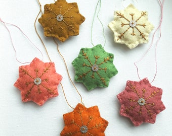 Wool felt ornaments Christmas ornaments Decorating ornaments Wall decor