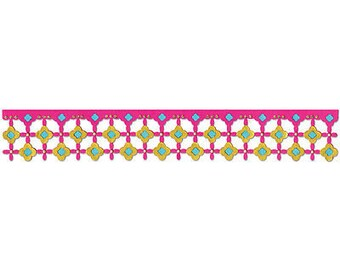 Sizzix Sizzlits Decorative Strip Die 12.625'X2.375'-Marrakesh Tile