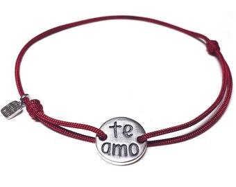 Te Amo bracelet, i love you bracelet, spanish jewelry, love bracelet, gift for wife, girlfriend gift, love, gift, jewelry, charm bracelet