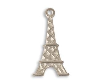 DESTASH SALE: Vintaj Artisan Pewter Eiffel Tower Pendant 13.5x25mm Set of 14
