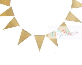 Gold Foil Triangle Garlands/ Gold Foil Pennant Banner