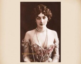 Actress Lina Cavalieri New 4x6 Vintage Postcard Image Photo Print LC15