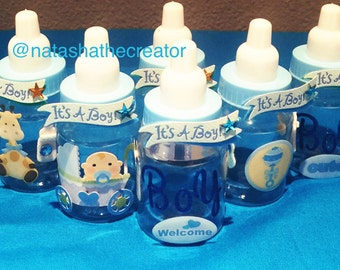 12 small 3.5 it's a boy baby shower party favors, baby shower, party favors