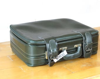 Green Military Suitcase, Army Suitcase, Leather Valise, Green Luggage, Suitcase Table, Travel Luggage, Cardboard Suitcase, Green Suitcase