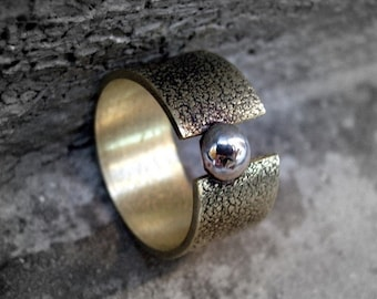 Open Brass Ring with Texture