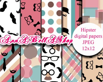 80% OFF SALE Digital Papers Father's Day 1 - father's day paper digital scrapbooking father digital paper hipster digital papers