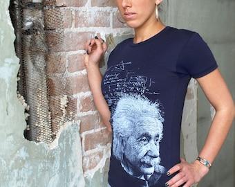 Albert Einstein Shirt - Women's Einstein T-shirt - Science Gift - Science Shirt - Physics Gift - Einstein Quotes