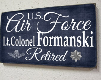 Air Force Retirement Sign - Military Retirement - Armed Forces Retiree - Vetern