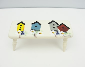 Vintage miniature furniture bench