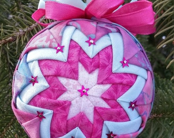 Batik Starwberry and Mint Ice Cream Ornament