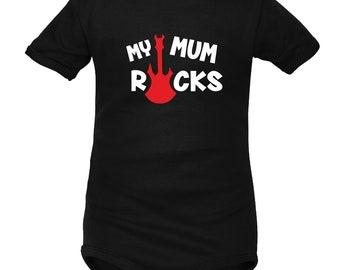 Rock baby body: My MUM Rocks
