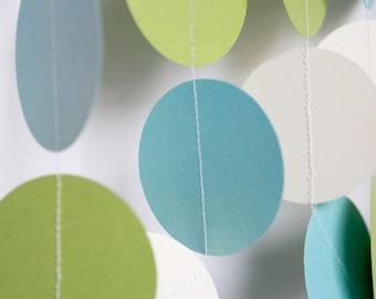 Paper Garland, Banner, Baby Shower Decoration, Shower Decor, Gender Neutral Shower, Birthday Decor - 10 Foot Long