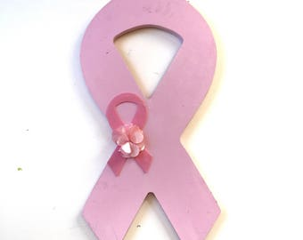 Breast Cancer Ribbon, Door Hanger, Breast Cancer Door Hanger, Think Pink