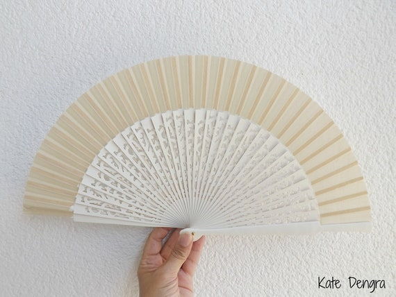 Std Fret Ivory Wooden Hand Fan