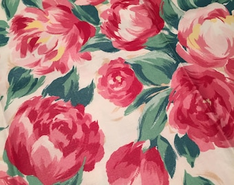 Pink Peony Polished Cotton